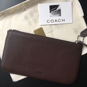 New without Tag COACH Leather Travel Pouch - Brown